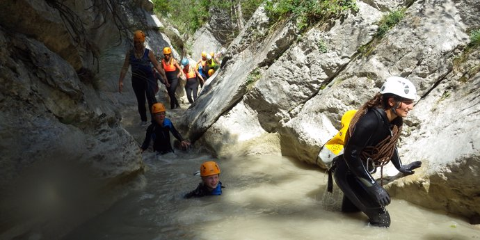 Canyoning at Base Canyon de la Besorgues