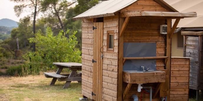 Camping met privé sanitair Provence