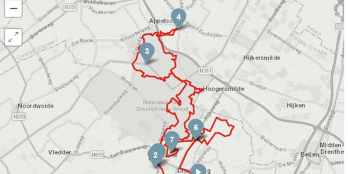 Route Noord | Richting Appelscha