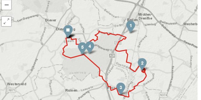 Route Oost | Richting VAM Berg