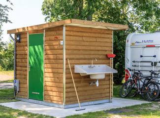 Kampeerhaven met prive sanitair en ligplaats