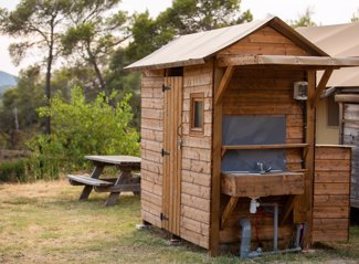 RCN Domaine de la Noguière | Kampeerplaats met privé sanitair