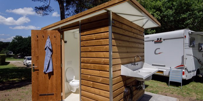 Camping met privé sanitair Dordogne