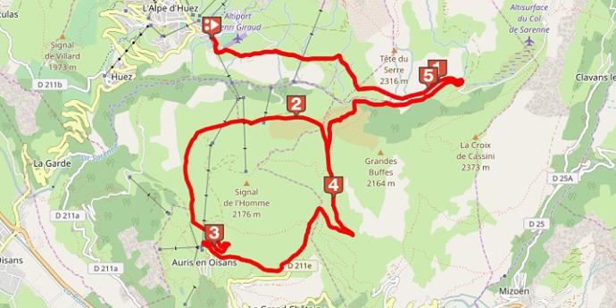 Boucle de l'Alpe d'Huez ***
